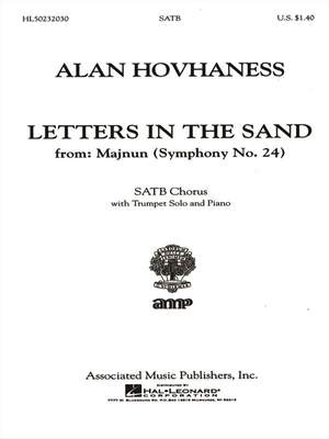 Alan Hovhaness: Letters In The Sand