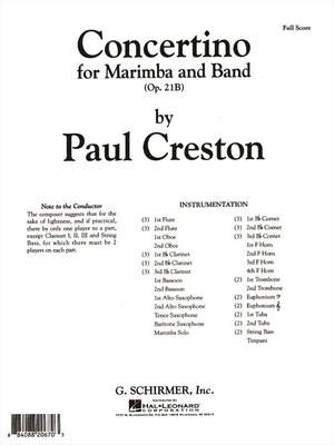 Paul Creston: Concertino for Marimba and Band, Op. 21b