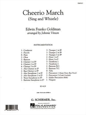 Edwin Franko Goldman: Cheerio March