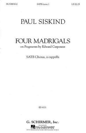 Paul Siskind: Four Madrigals