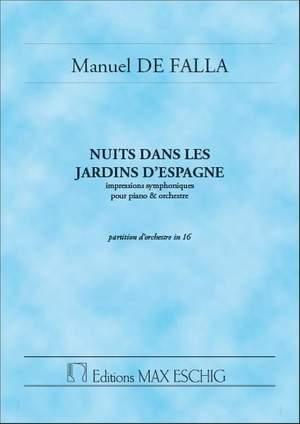 Manuel de Falla: Nuits Jardins.. Poche