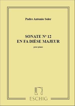 Padre Antonio Soler: Sonate N 12 Fa# M Piano