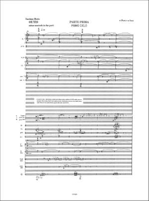 Luciano Berio: Outis. Azione Musicale In Due Parti