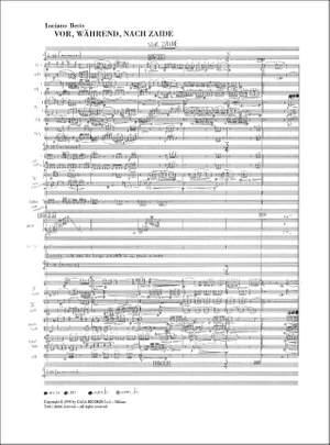 Luciano Berio: Vor, Wahrend, Nach Zaide