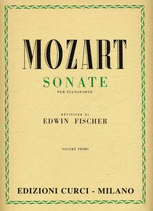 Wolfgang Amadeus Mozart: Sonate Vol 1 (Fischer) Product Image