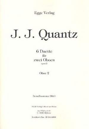 Johann Joachim Quantz: 6 Duette Op. 2 für zwei Oboen