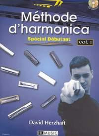 David Herzhaft: Méthode d'harmonica Vol.1
