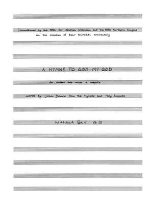 Michael Ball: A Hymne To God My God, Op.21