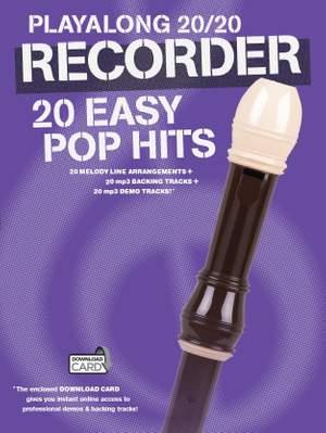 Playalong 20/20 Recorder: 20 Easy Pop Hits