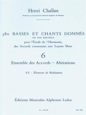 Henri Challan: 380 Basses et Chants Donnés Vol. 6B