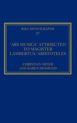Ars musica Attributed to Magister Lambertus/Aristoteles, The