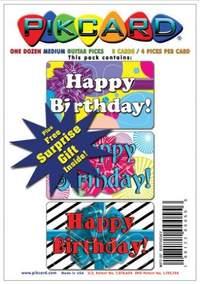 PikCard 3-Pack: Birthday (12 Guitar Picks)