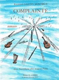 Raymond Gallois Montbrun: Complainte