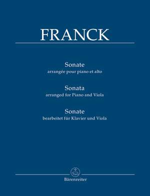 Franck, César: Sonata, arranged for Piano and Viola