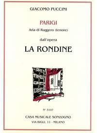 Giacomo Puccini: Aria di Ruggero: Parigi (da La rondine)