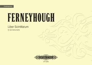 Ferneyhough, Brian: Liber Scintillarum (study score)