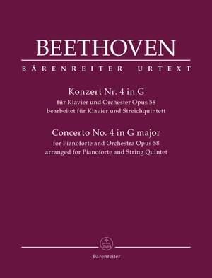 Beethoven, Ludwig van: Concerto for Pianoforte and Orchestra no. 4 op. 58