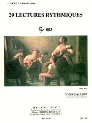 Yves Callier: 29 Lectures rythmiques