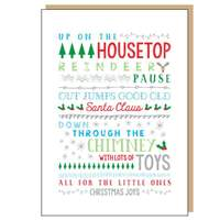On The Housetop Christmas Card