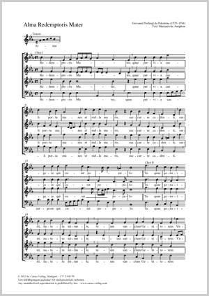 Palestrina, Giovanni Pierluigi da: Alma Redemptoris Mater