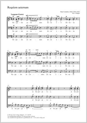 Cornelius, Peter: Requiem aeternam