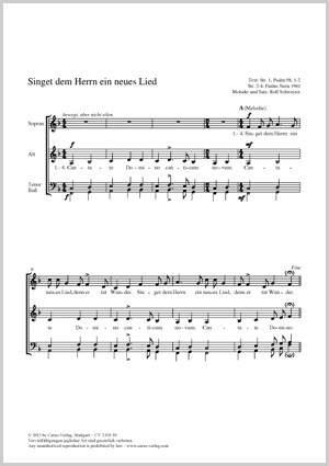 Schweizer, Rolf / Schweizer, Rolf: Singet dem Herrn ein neues Lied