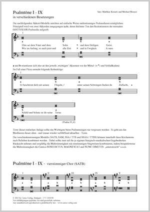 Kreuels, Matthias / Meuser, Michael: Psalmtöne I-IX