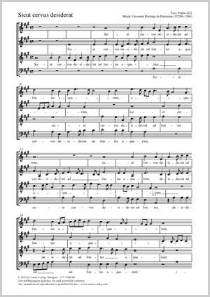Palestrina, Giovanni Pierluigi da: Sicut cervus desiderat