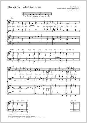 Schubert, Heino: Ehre sei Gott in der Höhe