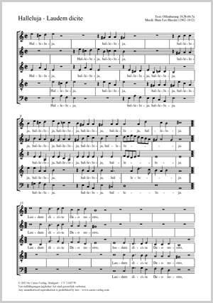 Hassler, Hans Leo: Halleluja - Laudem dicite