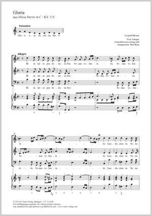 Mozart, Leopold: Gloria