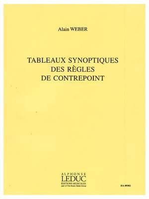 Alain Weber: Tableaux Synoptiques Des Regles De Contrepoint
