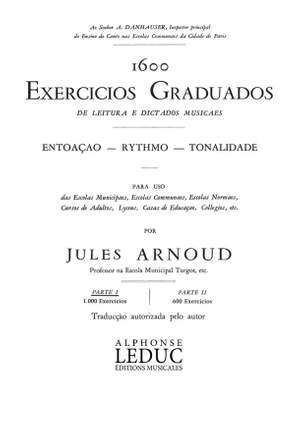 Jules Arnoud: 1600 Exercices Gradues de Lect et Dictees Vol 1