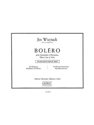 Jos Wuytack: Bolero Recorder Voice & Percussion Instrument