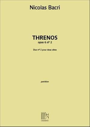 Nicolas Bacri: Threnos opus 6 n° 2