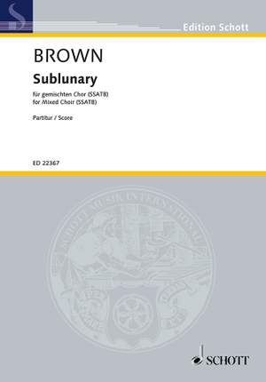 Brown, M: Sublunary Product Image