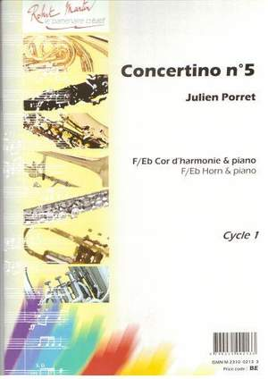 Julien Porret: Concertino No. 5 (Fa ou Mib)