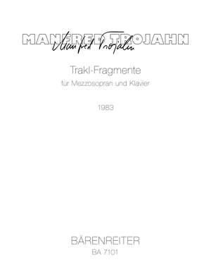 Manfred Trojahn: Trakl-Fragmente