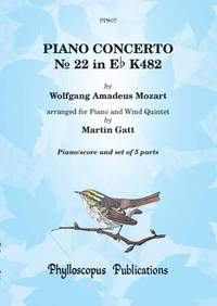 Wolfgang Amadeus Mozart: Mozart Piano Concerto K482 Piano with Wind Quintet