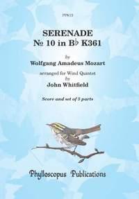 "Wolfgang Amadeus Mozart: Serenade No. 10 in Bb, K.361 Gran Partita"" complete for Wind Quintet"""
