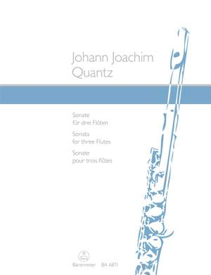 Quantz, Johann Joachim: Sonata for three Flutes