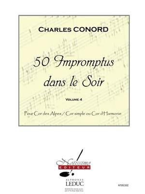 Charles Conord: 50 Impromptus Dans Le Soir Cor Des Alpes Vol 4