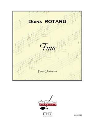 Doïna Rotaru: Rotaru Fum Clarinet In Bb Solo Product Image