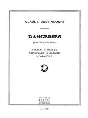 Claude Delvincourt: Delvincourt Danceries Violin & Piano