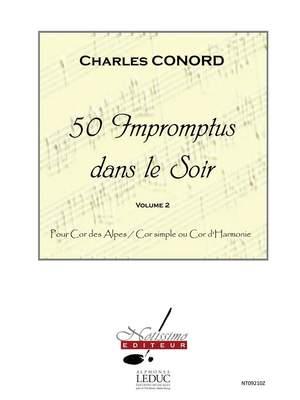 Charles Conord: 50 Impromptus Dans Le Soir Cor Des Alpes Vol 2