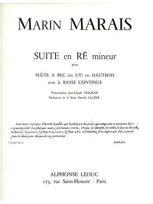 Marin Marais: Suite En Re Mineur