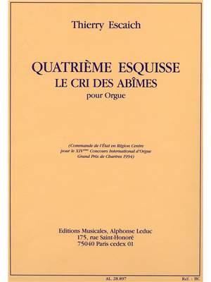 Thierry Escaich: Escaich Esquisse No.4 Le Cri Des Abimes Organ