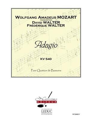 Wolfgang Amadeus Mozart: Mozart Walter D. Adagio 4 Bassoons