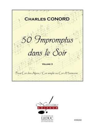 Charles Conord: 50 Impromptus Dans Le Soir Cor Des Alpes Vol 3