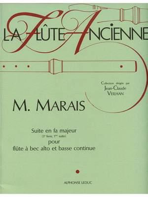Marin Marais: Suite In F Major Treble Recorder & BC